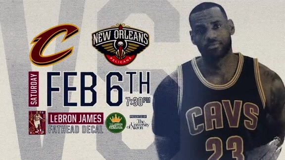LeBron James Fathead Decal Giveaway on February 6th vs. New Orleans