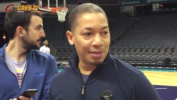 Shootaround: Coach Lue - February 3, 2016