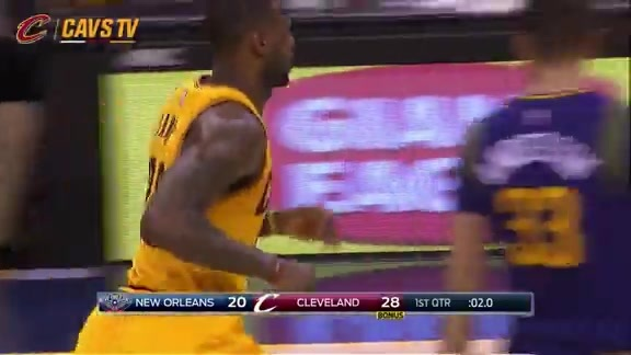 LeBron Skies Down the Lane for the Slam - February 6, 2016