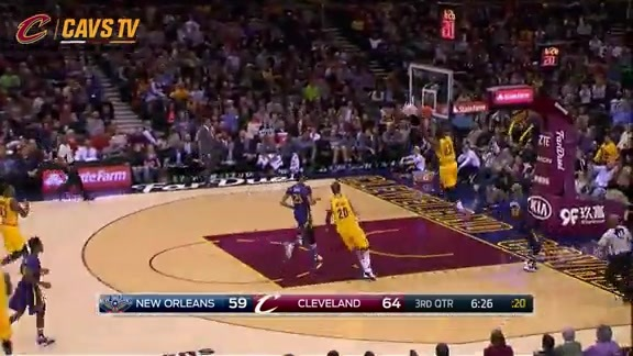 J.R. Throws Long Outlet to LBJ - February 6, 2016