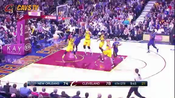 Varejao with the Chase Down Block - February 6, 2016