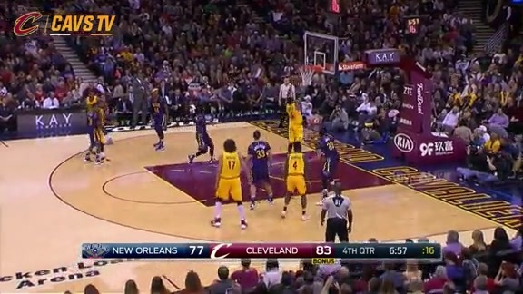 LeBron Finds a Cutting J.R. - February 6, 2016