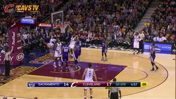 LeBron Converts the Difficult And-One - February 8, 2016