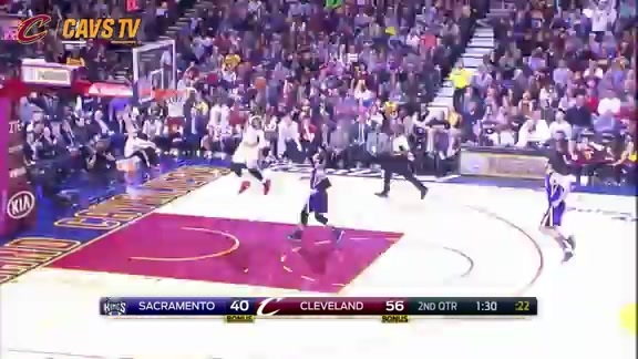 LBJ Steal and Slam - February 8, 2016