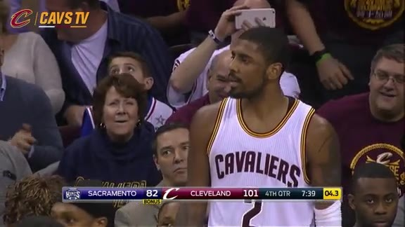 Kyrie with the Four-Point Play Opportunity - February 8, 2016
