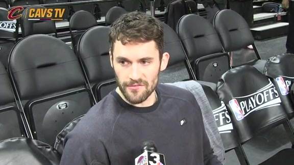 Game 4 Shootaround: Kevin Love - April 24, 2016