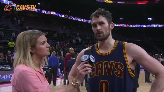 Game 4 On-Court Postgame: Kevin Love - April 24, 2016