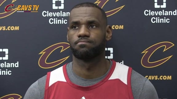 Practice: LeBron James - April 29, 2016