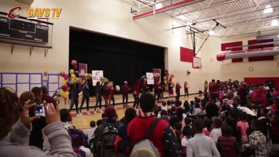 Cavs Host Event at Nathan Hale School - April 29, 2016