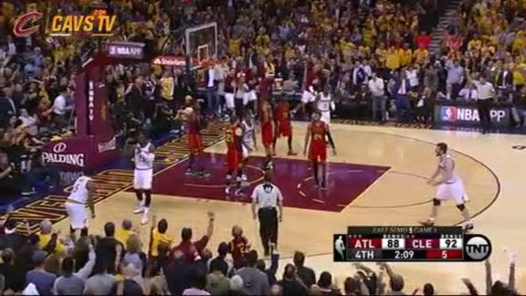 LeBron Muscles Home the And-One - May 2, 2016