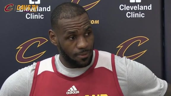 Shootaround: LeBron James – May 4, 2016