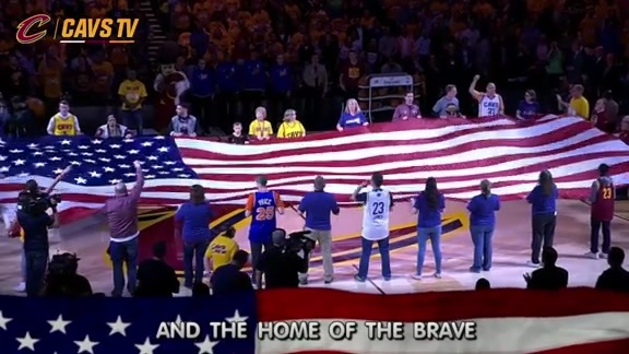 Cavs Fans Sing National Anthem - May 4, 2016