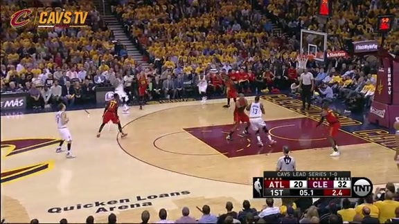 J.R. Smith Goes Off in the First Quarter - May 4, 2016