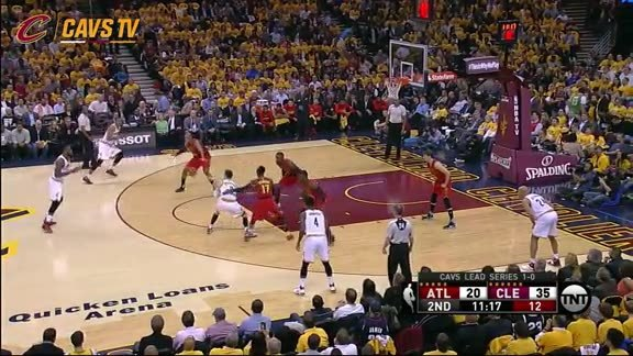Cavs Continue Their 3-pt Barrage in the 2nd Quarter - May 4, 2016