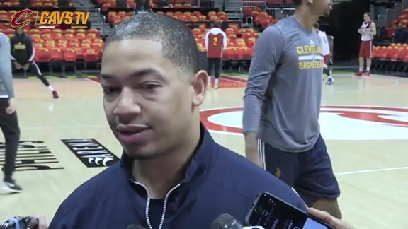 Game 3 Shootaround: Coach Lue - May 6, 2016