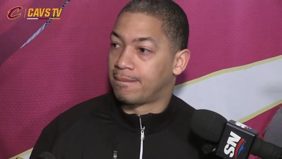 Game 4 Shootaround: Coach Lue - May 23, 2016