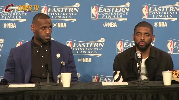 Game 5 Postgame: LeBron James, Kyrie Irving - May 25, 2016