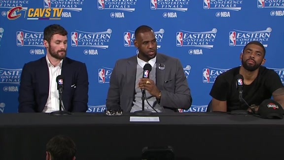 Game 6 Postgame: LeBron James, Kyrie Irving and Kevin Love - May 27, 2016