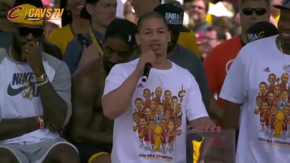 CavsTV Championship Parade and Rally: Coach Lue – June 22, 2016