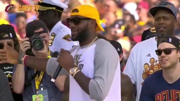CavsTV Championship Parade and Rally: LeBron James – June 22, 2016