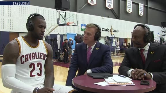 2016 Media Day with LeBron James