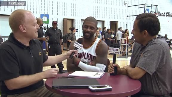2016 Media Day with Kyrie Irving