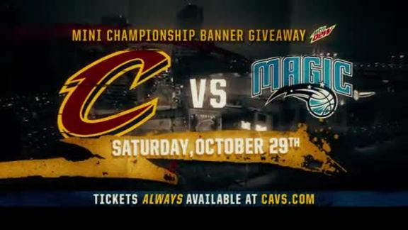 Mini Championship Banner Giveaway on Oct. 29