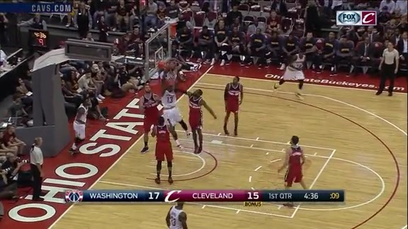 Tristan with the Putback Slam - October 18, 2016