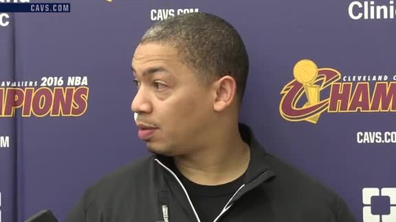 Practice: Coach Lue – October 22, 2016
