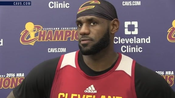 Practice: LeBron James – October 22, 2016