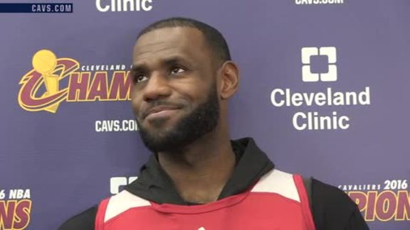 Practice: LeBron James – October 24, 2016