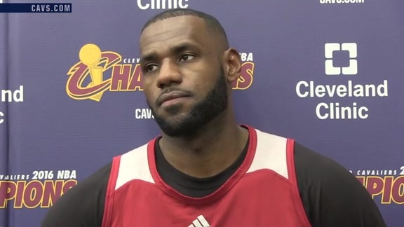 #CavsKnicks Shootaround: LeBron James – October 25, 2016