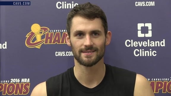#CavsKnicks Shootaround: Kevin Love – October 25, 2016