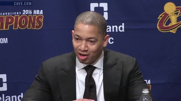 #CavsKnicks Postgame: Coach Lue – October 25, 2016