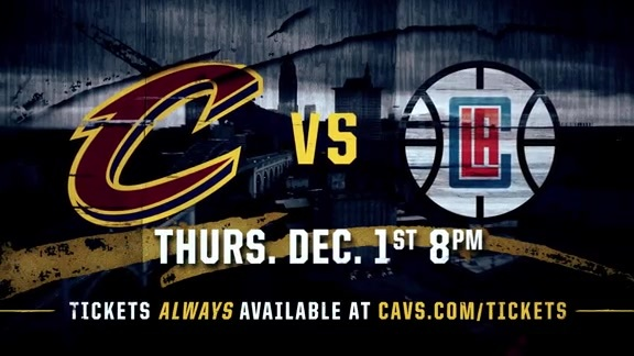 Cavs Host Clippers on December 1st