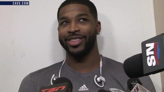 #CavsRaptors Shootaround: Tristan Thompson - October 28, 2016