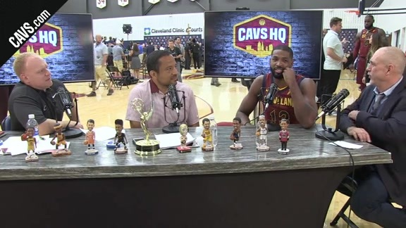 Tristan Thompson Catches Up with CavsHQ
