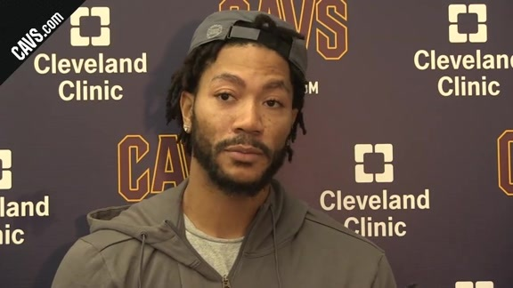 #CavsBulls Shootaround: Derrick Rose – October 10, 2017