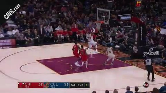 LBJ Scores on the Fast Break - October 10, 2017