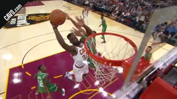LBJ Finds Green for the Slam - October 17, 2017