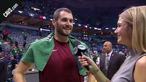 #CavsBucks On-Court Postgame: Kevin Love - October 20, 2017
