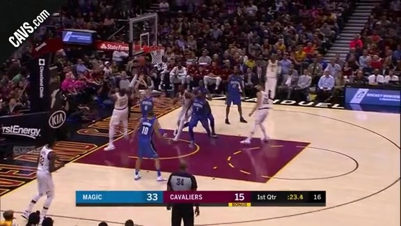 LBJ Knocks Down the Bucket after the Foul