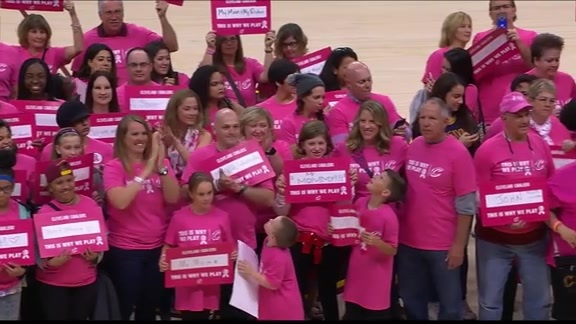 Cavs Honor Breast Cancer Survivors, Fighters, Family and Friends