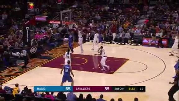 LBJ Chases Down Ross for a Block