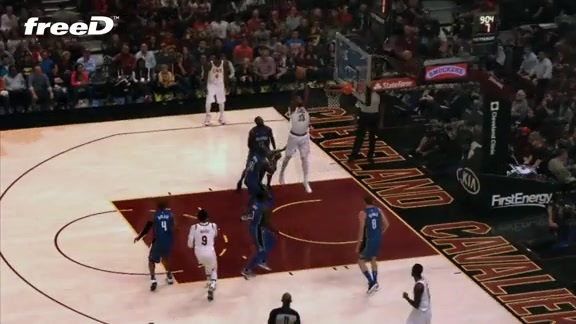 Highlight in freeD: DWade Lobs Tristan