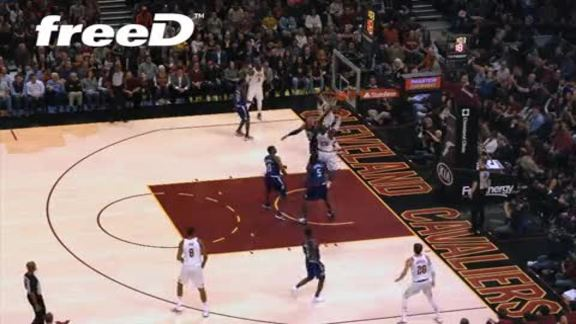 Highlight in freeD: LBJ Lays One Up