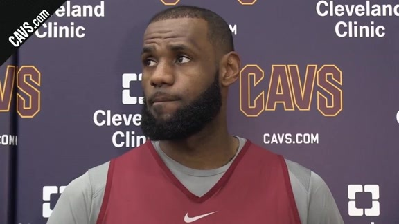 #CavsNets Shootaround: LeBron James - November 22, 2017