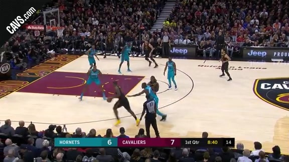 LBJ Drops a Pretty Assist to Crowder