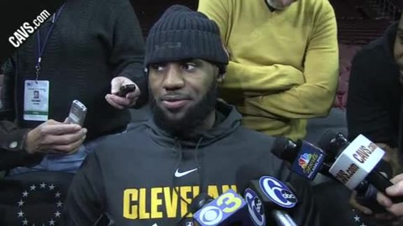 CavsSixers Shootaround  LeBron James - November 27 1ec358afb57
