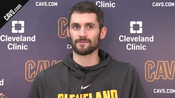 #CavsLakers Shootaround: Kevin Love - December 14, 2017
